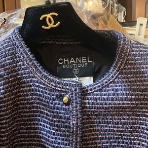 CHANEL Jackets & Coats - Chanel Metallic 80s Authentic Suit